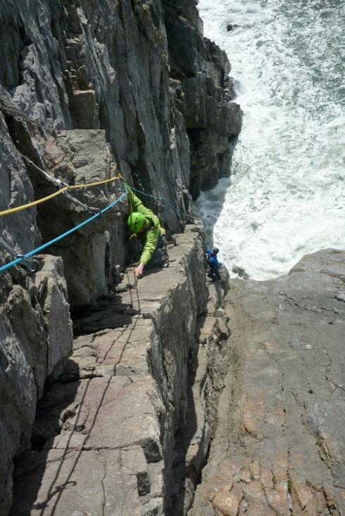rock climbing pembrokeshire
